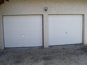 Portes sectionnelles panneaux rainurées