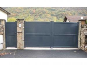 artisan-fabrication-pose-portail-alu-gris7016-automatique-varces