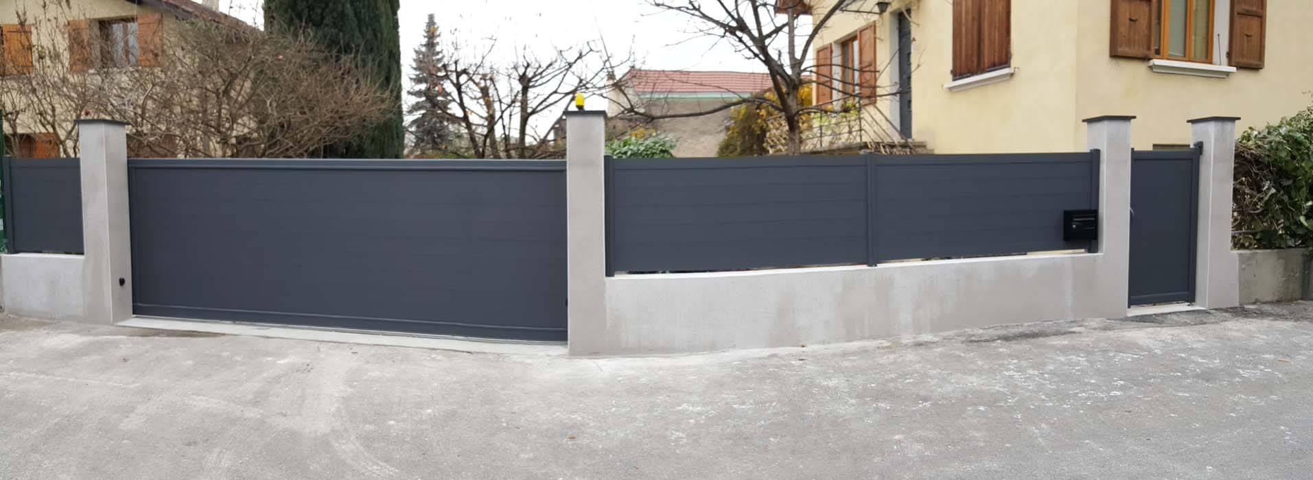 portail aluminium coulissant grenoble alproconcept fabrication et pose alproconcept. Black Bedroom Furniture Sets. Home Design Ideas