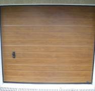 804 – Porte sectionnelle ton bois
